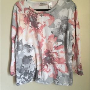 Alfred Dunner Ladies Beaded Floral Sweater 1X